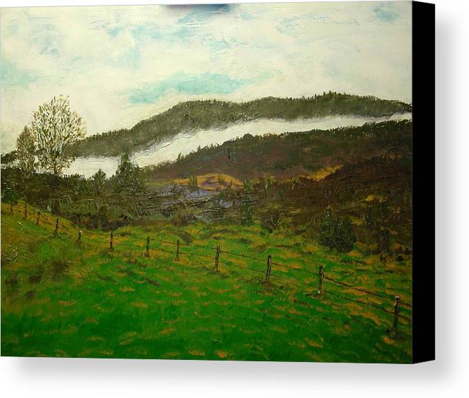 Landscape Canvas Print featuring the painting Sweet Home Alabama by Michael L Brown