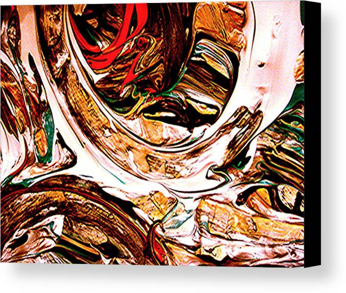 Mixed Media Prints Canvas Print featuring the digital art Swirl 2 by Teo Santa