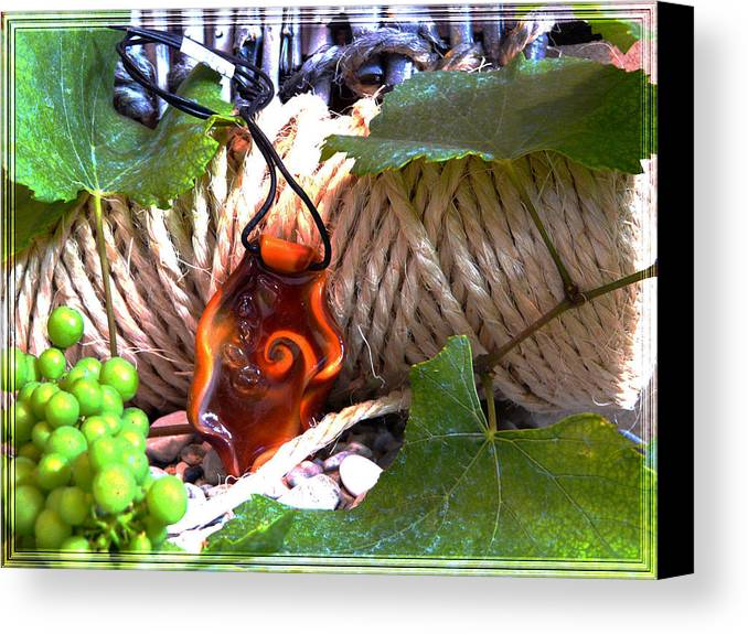 Swirl Canvas Print featuring the photograph Swirl And Rope by Chara Giakoumaki