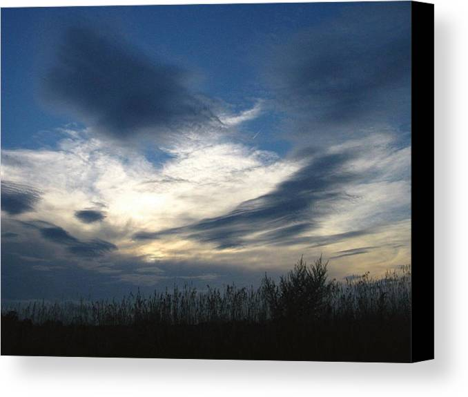 Sky Canvas Print featuring the photograph Swirling Skies by Rhonda Barrett