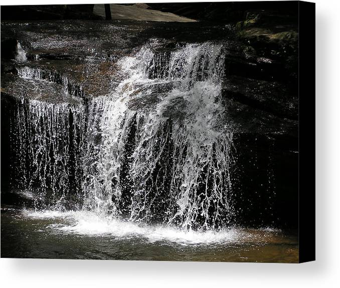 Landscape Canvas Print featuring the photograph Table Rock South Carolina Water Fall by Diane Frick