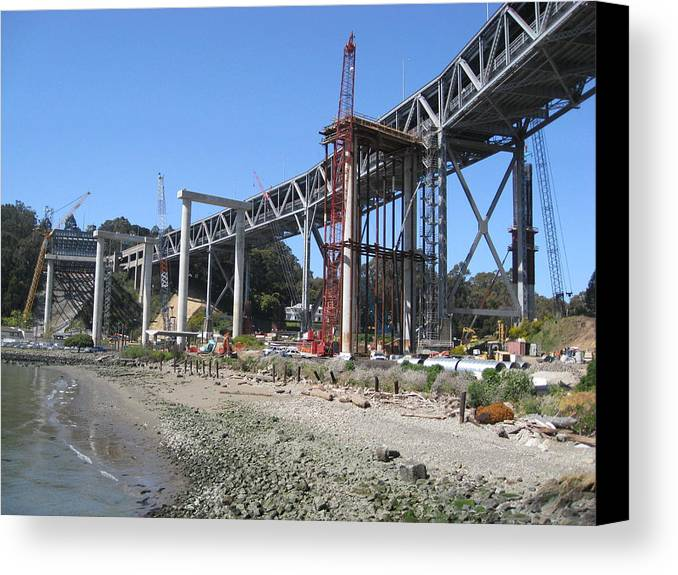 Water Canvas Print featuring the photograph Temporary Structure by Jerry Patchin