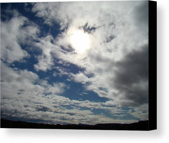 Sky Canvas Print featuring the photograph Texas Blue Sky Two by Ana Villaronga