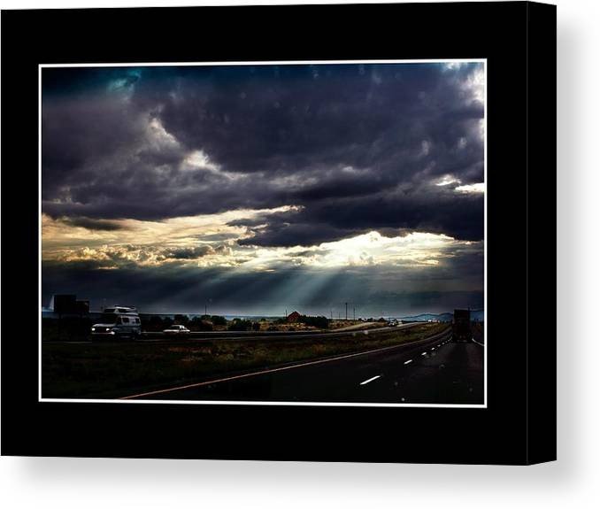 Photo Canvas Print featuring the photograph Texassky by Richard Gordon