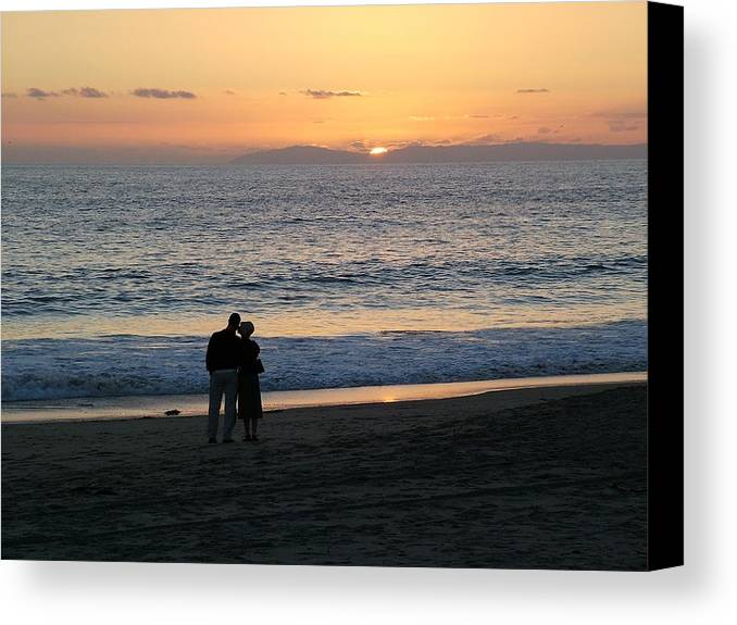 Sunset Canvas Print featuring the photograph That's Love by John Loyd Rushing