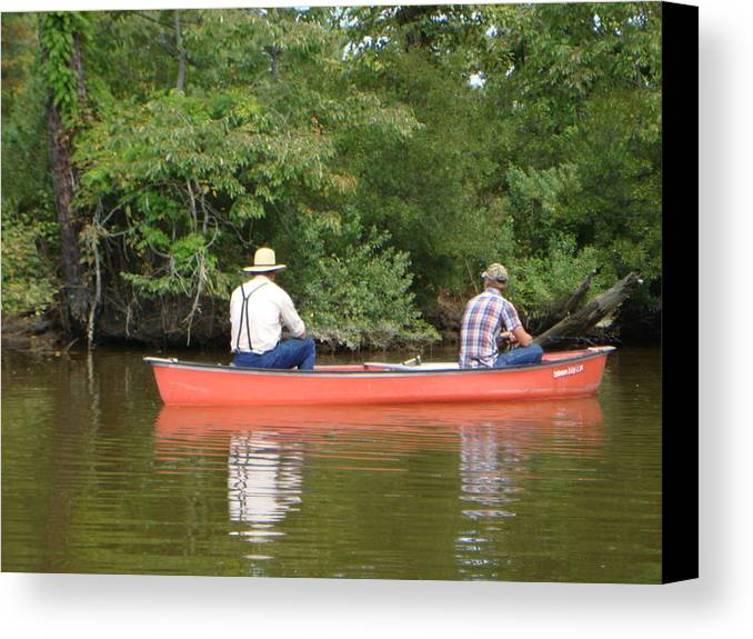 Fishing Canvas Print featuring the photograph The Amish Way by PJ Cloud