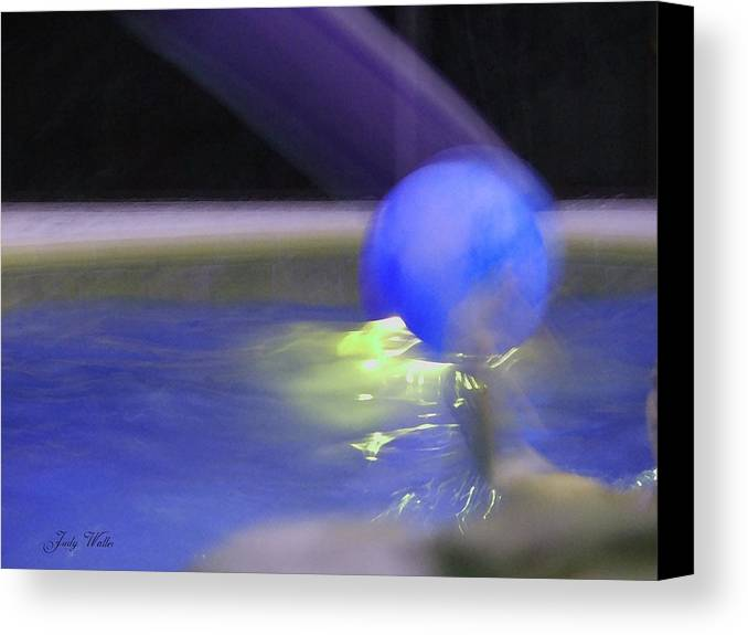 3-d Canvas Print featuring the photograph The Blue Ball by Judy Waller
