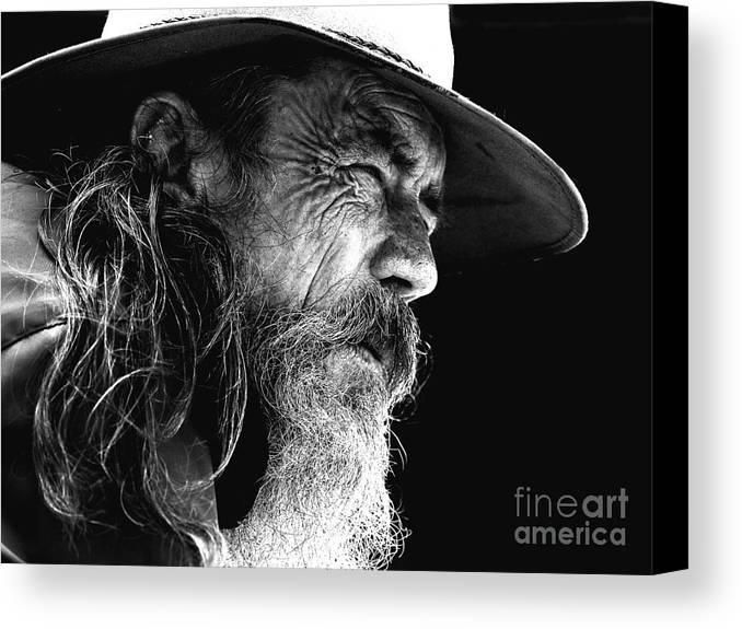 Australian Bushman Hat Canvas Print featuring the photograph The Bushman by Sheila Smart Fine Art Photography