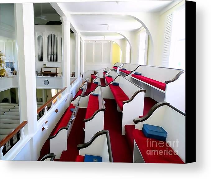 Digital Canvas Print featuring the photograph The Church Balcony by Ed Weidman