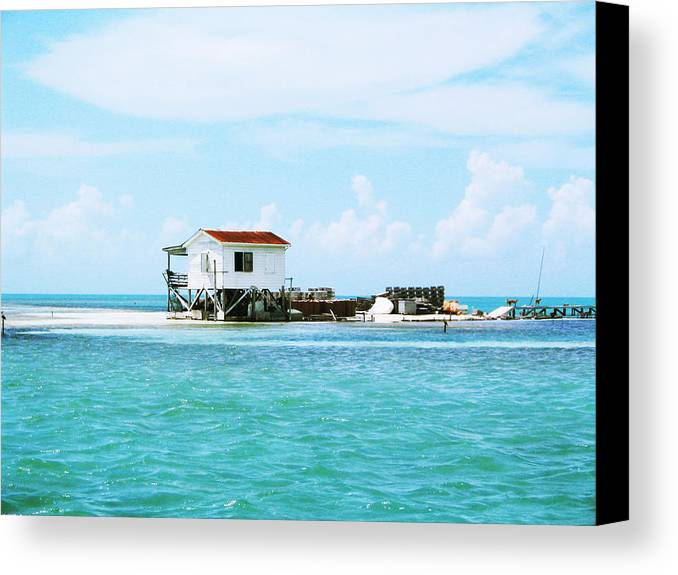 Sand Canvas Print featuring the photograph The Crab Shack by Eliot LeBow