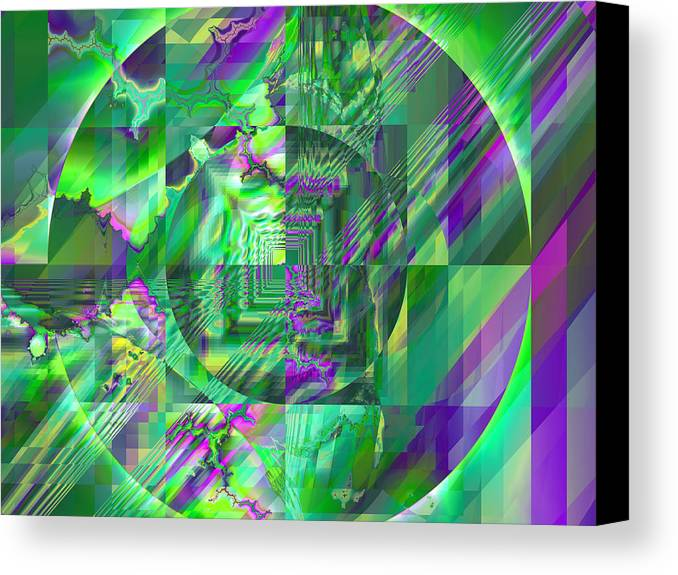 Fractal Canvas Print featuring the digital art The Crazy Fractal by Frederic Durville