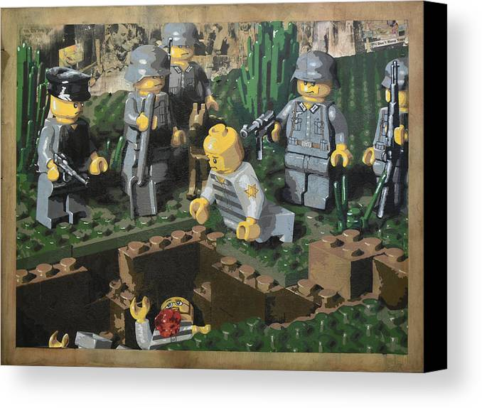 Lego Canvas Print featuring the painting The Death Of 90064 by Josh Bernstein