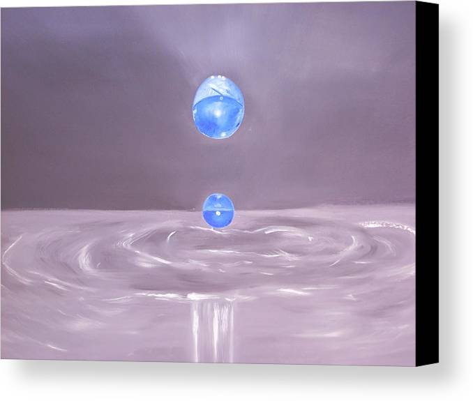 Nature Canvas Print featuring the painting The Drop by Murielle Hebert