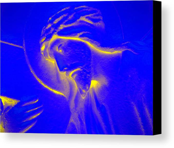 Jesus Canvas Print featuring the photograph The Glow Of Christ by Mike McGlothlen