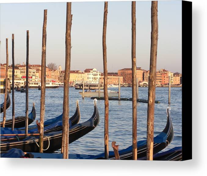 Grand Canal Gondola Venice Canvas Print featuring the photograph The Grand Canal And The Gondolas Of Venice by Paul Jessop