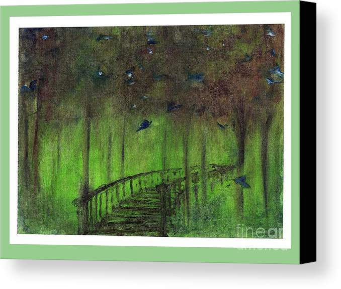 Oil Painting Canvas Print featuring the painting The Green Forest by Corri Johanson