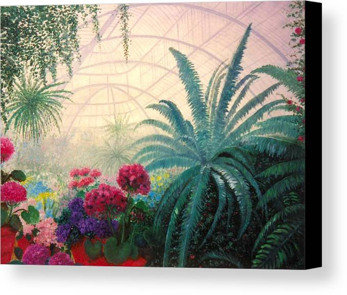 Greenhouse Canvas Print featuring the digital art The Green House by Jeanene Stein