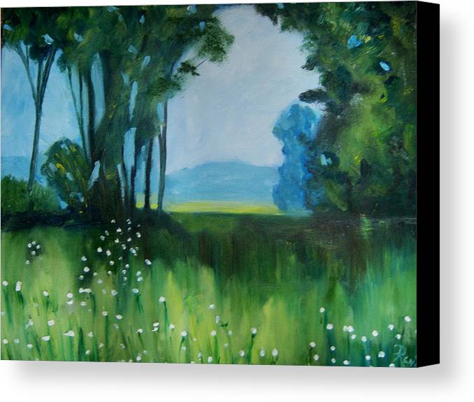 Oil Painting Canvas Print featuring the painting The Green Of Spring by Renee Gandy
