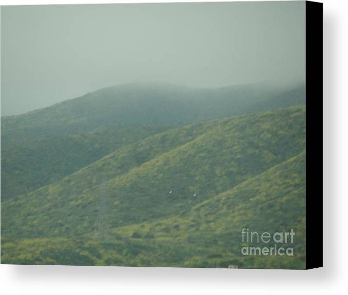 Grass Canvas Print featuring the photograph The Hills In Southern California by Alice Heart