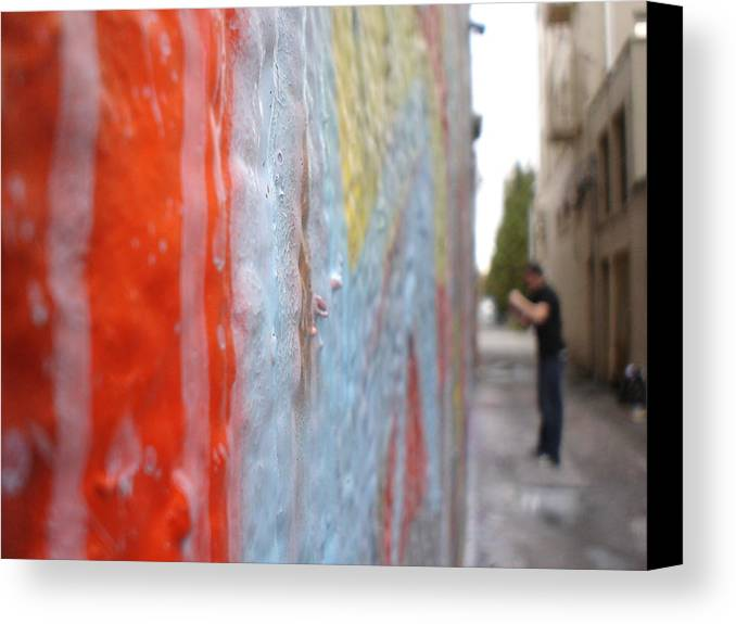 Urban Artwork Canvas Print featuring the photograph The Layers Of Time by Chandelle Hazen
