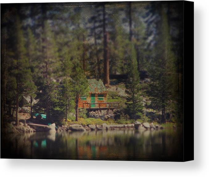 Cabin Canvas Print featuring the photograph The Little Cabin by Laurie Search