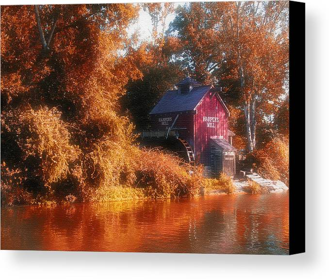 Mill Canvas Print featuring the photograph The Mill by Kenneth Krolikowski