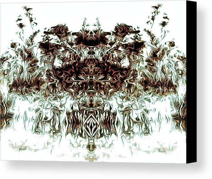 Robot Canvas Print featuring the digital art The Overlord by D R