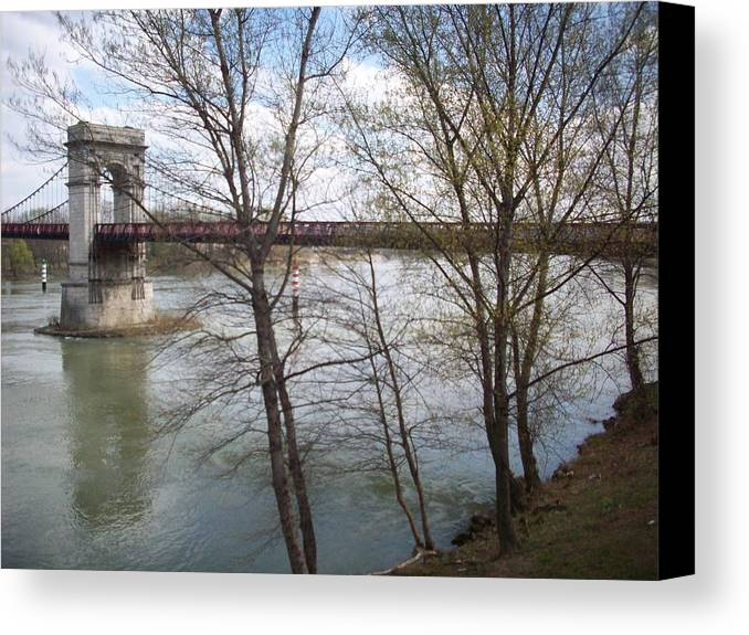 Bridge Canvas Print featuring the photograph The Passage by Helene Champaloux-Saraswati