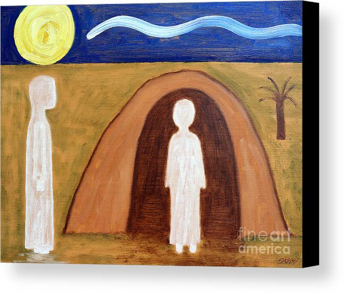 Easter Canvas Print featuring the painting The Raising Of Lazarus by Patrick J Murphy