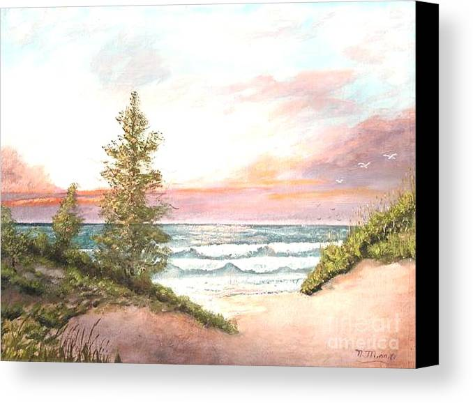 Shore Canvas Print featuring the painting The Shore by Nicholas Minniti