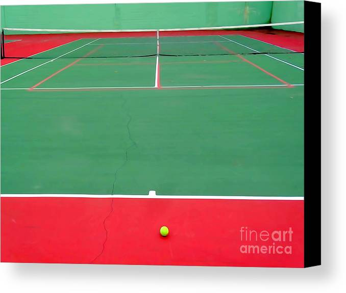 Digital Painting Canvas Print featuring the digital art The Tennis Court by Ed Weidman