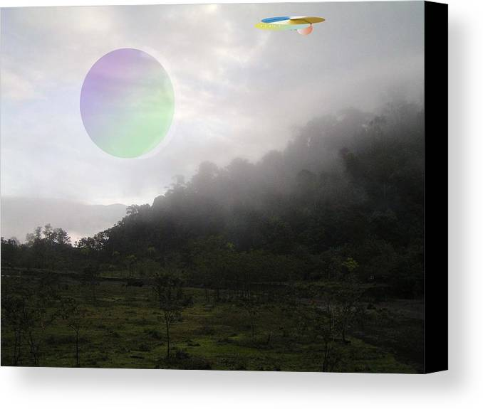 Landscape Sci-fi Canvas Print featuring the photograph The Traveler by Giles b Liddell