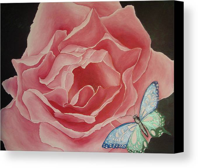Floral Canvas Print featuring the painting The Unfolding by Glory Fraulein Wolfe