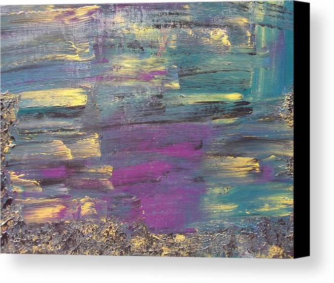 Reflection In Water Canvas Print featuring the painting The Unknown by Rivka Waas