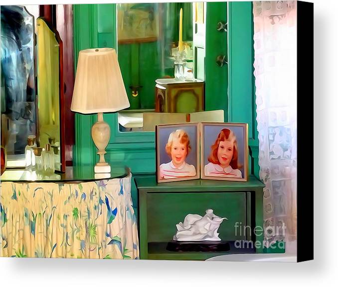 Digital Art Canvas Print featuring the digital art The Vanity by Ed Weidman