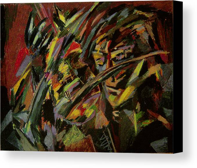 Fantasy Canvas Print featuring the painting The Violinist by Tadeush Zhakhovskyy