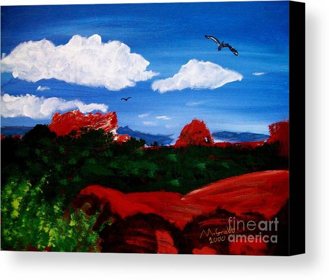 Acrylic Canvas Print featuring the painting The West by Michael Grubb
