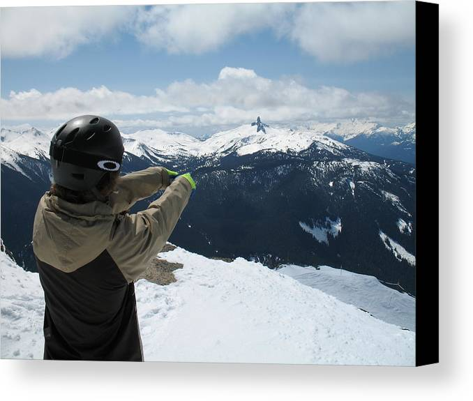 The View Of From The Sumit Of Whistler. Canvas Print featuring the photograph Top Of The World by Robert Gillespie
