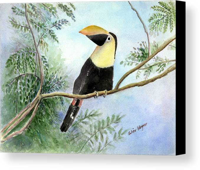 Toucan Canvas Print featuring the painting Toucan by Arline Wagner