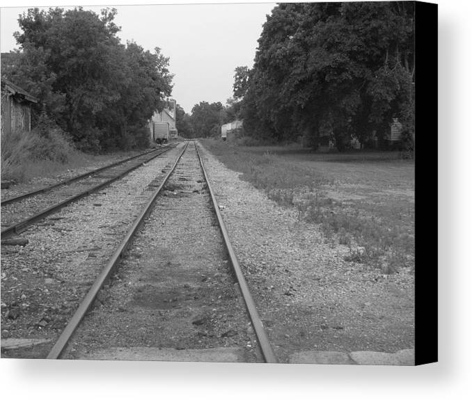 Train Canvas Print featuring the photograph Train To Nowhere by Rhonda Barrett