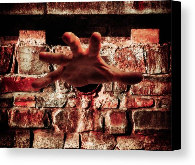 Hand Canvas Print featuring the photograph Trapped by Wim Lanclus