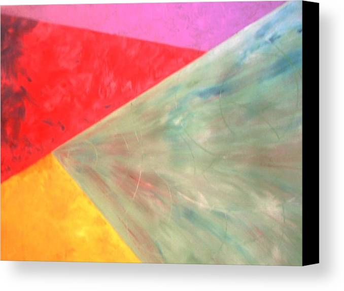 Geometric Art Canvas Print featuring the painting Triangles by Guillermo Mason