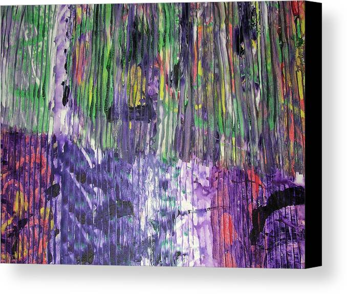 Abstract Canvas Print featuring the painting Tribute To Prince by Russell Simmons