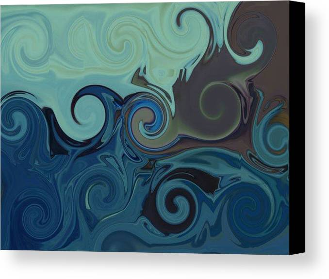Ocean Canvas Print featuring the digital art Trippy by Melanie Plummer