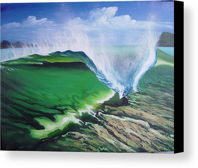 Surf Canvas Print featuring the painting Tropical Twist by Ronnie Jackson