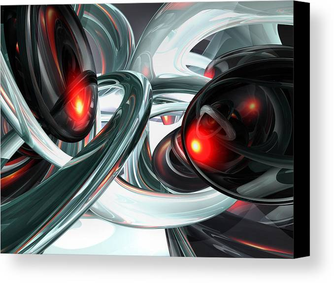 3d Canvas Print featuring the digital art Turmoil Abstract by Alexander Butler