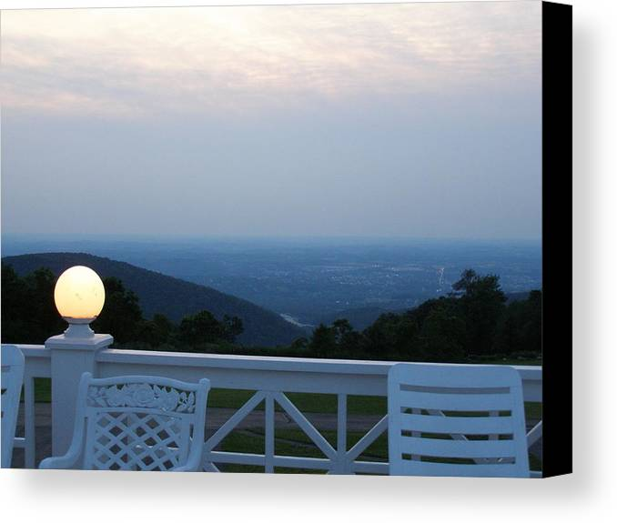 Porch Canvas Print featuring the photograph Twilight by Evelynn Eighmey