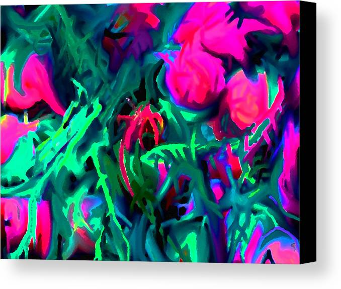 Abstract Canvas Print featuring the digital art Twisted by Ian MacDonald