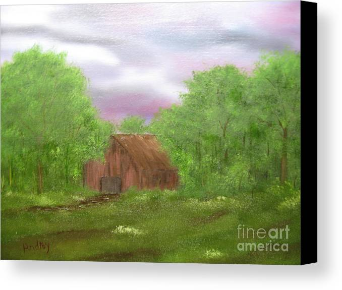 Barn Canvas Print featuring the painting Untitled by Todd Androy