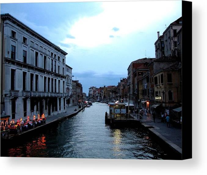 Venice Canvas Print featuring the photograph Venice Evening by Stephanie Gobler